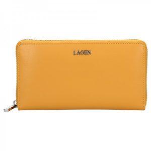 Dámská kožená peněženka Lagen Dita – žlutá