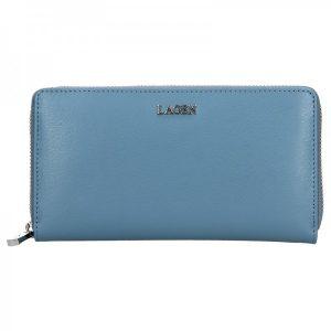 Dámská kožená peněženka Lagen Dita – modrá