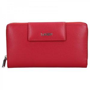 Dámská kožená peněženka Lagen Zora – červená