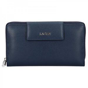 Dámská kožená peněženka Lagen Zora – tmavě modrá