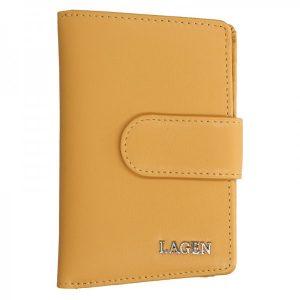 Dámská kožená peněženka Lagen Kamila – žlutá