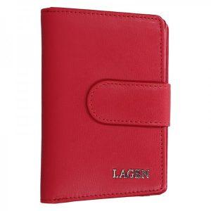 Dámská kožená peněženka Lagen Kamila – červená