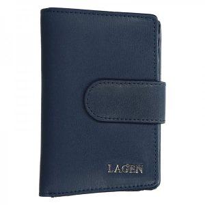 Dámská kožená peněženka Lagen Kamila – tmavě modrá
