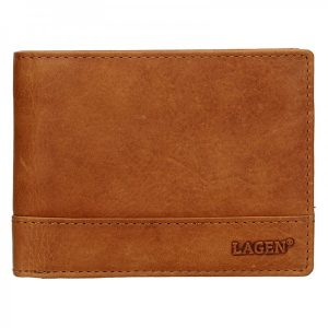 Pánská kožená peněženka Lagen Lorenc – světle hnědá