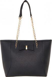 BASIC Černá shopper kabelka s řetízkem – HBFB136 Velikost: univerzální