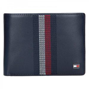 Pánská kožená peněženka Tommy Hilfiger Kenny – modrá
