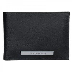 Pánská kožená peněženka Tommy Hilfiger Levron – černá