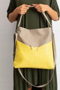 BASIC Dámská žluto-hnědá kabelka 0008-6 Velikost: univerzální