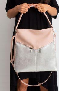 BASIC Stříbrná shopper kabelka 0009-3 Velikost: univerzální