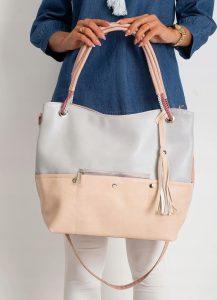 BASIC Pudrová shopper kabelka 0010-1 Velikost: univerzální