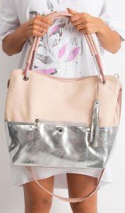 BASIC Pudrová shopper kabelka 0010-2 Velikost: univerzální