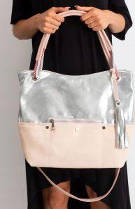 BASIC Pudrová shopper kabelka 0010-3 Velikost: univerzální