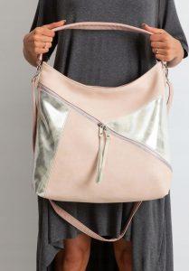BASIC Pudrová shopper kabelka 0011-1 Velikost: univerzální