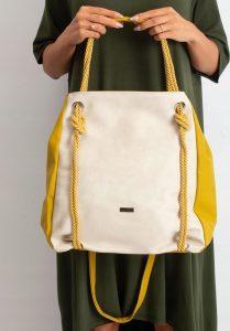 BASIC Žlutá kabelka s uzlem 0016-2 Velikost: univerzální
