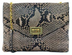 Coccinelle Luxusní kožená kabelka Python Mini