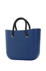 O bag kabelka MINI Bluette s černými krátkými provazy