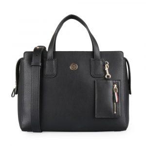 Tommy Hilfiger Dámská kabelka do ruky Charming Tommy AW0AW07311 – černá