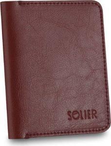 Elegantní hnědá pánská peněženka značky SOLIER (SW15 BROWN MAROON) Velikost: univerzální