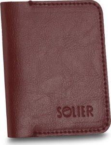 Elegantní hnědá pánská peněženka značky SOLIER (SW16 BROWN MAROON) Velikost: univerzální