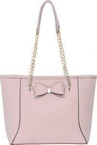 BASIC Růžová shopper kabelka s řetízkem – HBFB136 Velikost: univerzální