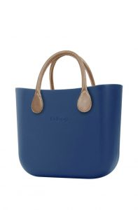 O bag kabelka MINI Bluette s krátkými koženkovými držadly natural