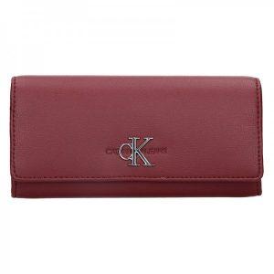 Dámská peněženka Calvin Klein Brenda – vínová