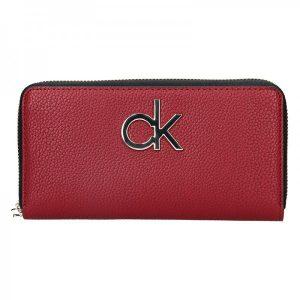 Dámská peněženka Calvin Klein Fiora – vínová