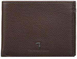 Trussardi Pánská peněženka Pocket Tumbled 71W00004-B220 Dark Brown