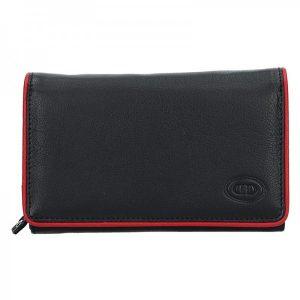 Dámská kožená peněženka DD Anekta Dita – černo-červená