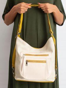 BASIC Dámská žluto-béžová kabelka 0012 Velikost: univerzální