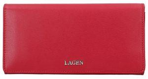 Lagen Dámská kožená peněženka 50310 Red
