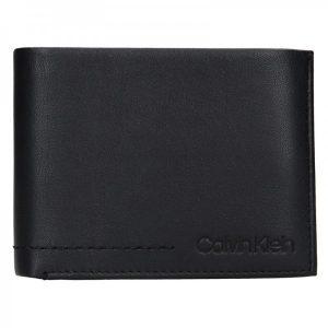 Pánská kožená slim peněženka Calvin Klein Manze – černá