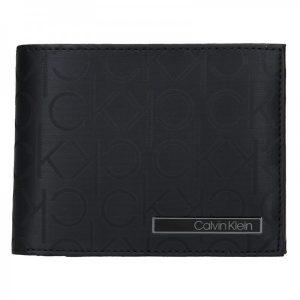 Pánská kožená peněženka Calvin Klein Sven – černá