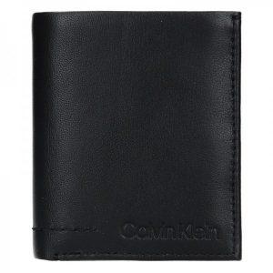 Pánská kožená peněženka Calvin Klein Hopper – černá