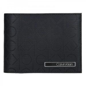 Pánská kožená slim peněženka Calvin Klein Fredy – černá