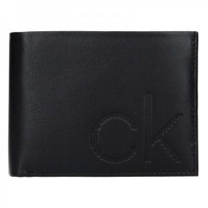 Pánská kožená slim peněženka Calvin Klein Triss – černá