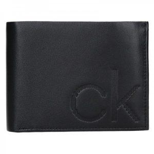 Pánská kožená peněženka Calvin Klein Phillip – černá