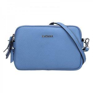 Kožená dámská crosbody kabelka Katana Patricia – modrá