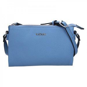 Kožená dámská crosbody kabelka Katana Elisn – modrá