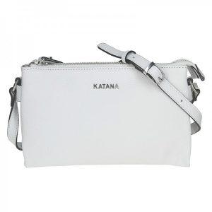 Kožená dámská crosbody kabelka Katana Elisn – bílá
