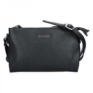 Kožená dámská crosbody kabelka Katana Elisn – černá