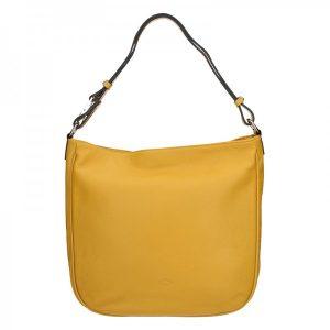 Elegantní dámská kožená kabelka Katana Jindra – žlutá