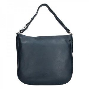 Elegantní dámská kožená kabelka Katana Jindra – tmavě modrá