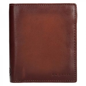 Pánská kožená peněženka Bugatti Robin – koňak