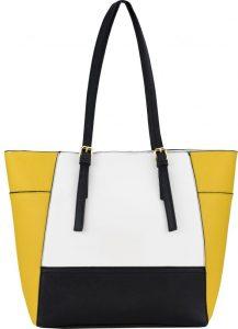 BASIC Trojbarevná žlutá shopper kabelka – HBFB266 multi Velikost: univerzální