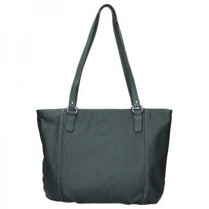 Elegantní dámská kožená kabelka Katana Apolen – tmavě zelená