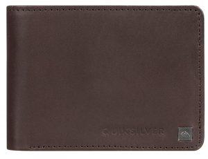 Quiksilver Pánská kožená peněženka Mack IX Chocolate Brown EQYAA03813-CSD0