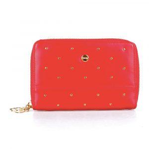 Giudi Dámská kožená peněženka 7475/BU/RI/CIO/Q – červená