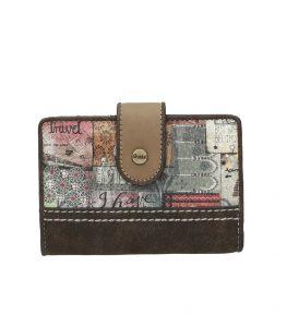 Anekke hnědá malá peněženka Egypt