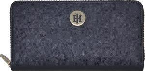 Tommy Hilfiger Dámská peněženka Honey Lrg Za Metallic Tommy Navy Metallic